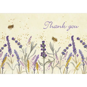 Lavender Honey Thank You Notecards