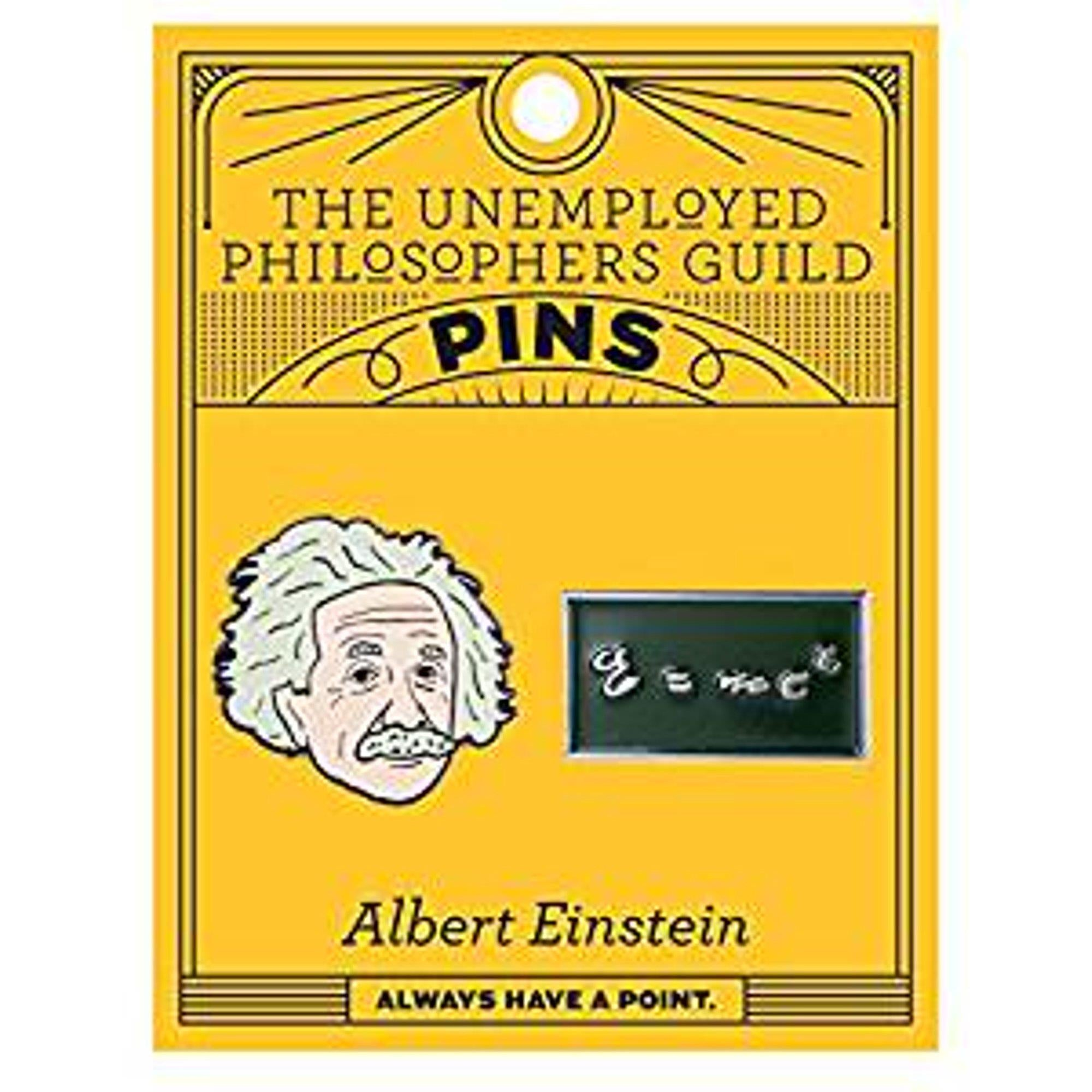 Albert Einstein & E=MC2 - Enamel Pin Set