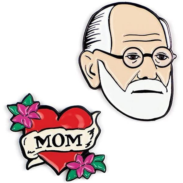 Sigmund Freud & Mom - Enamel Pin Set