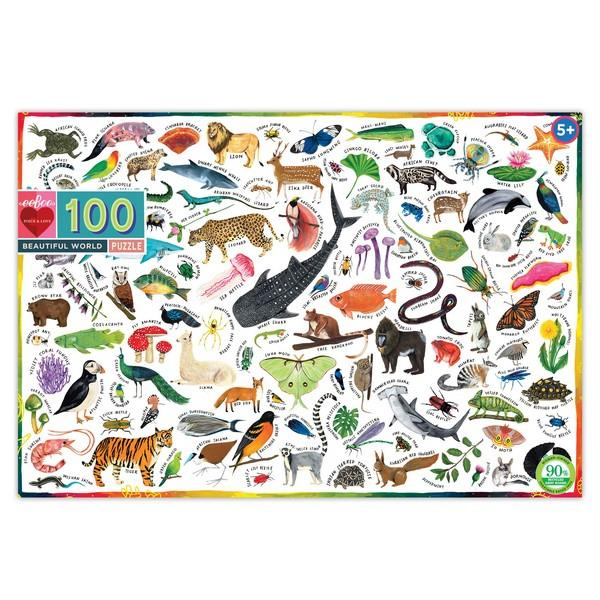 Eeboo Puzzle - Beautiful World 100 Pieces