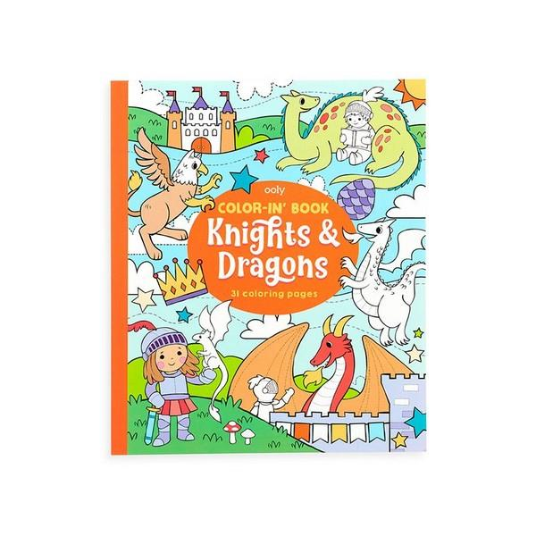 Knights & Dragons - Color-In-Book