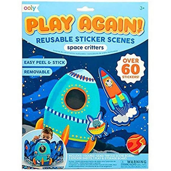 Space Critters - Reusable Sticker Kit
