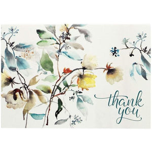 Asian Botanical Thank You Notecards