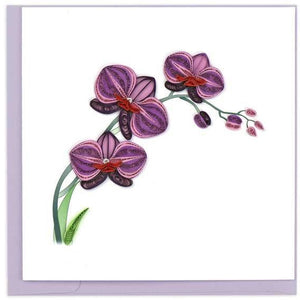 Quilling Blank Art Card Purple Orchid BL913