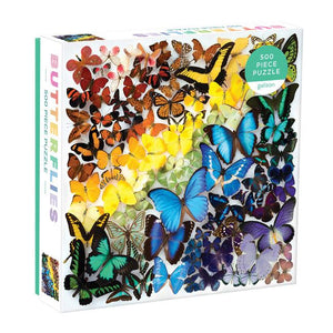 Galison Puzzle 500 Pieces Rainbow Butterflies