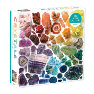 Galison Puzzle 500 Piece Rainbow Crystals
