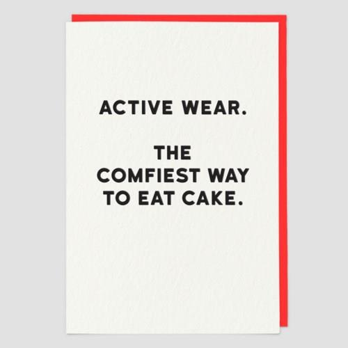 Active Wear - Greeting Card