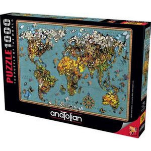 Butterfly World Map - 1000 Pieces