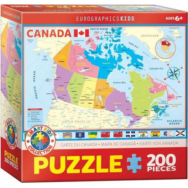 Map of Canada - 200 Pieces