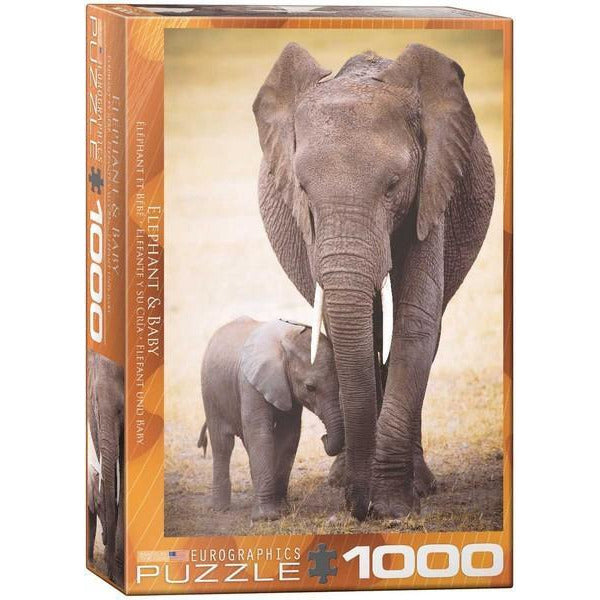 Elephant & Baby - 1000 Pieces