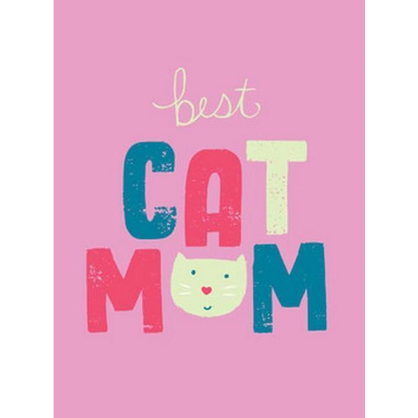 Best Cat Mom Greeting Card