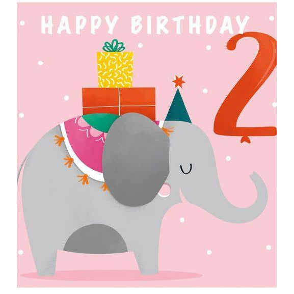 2nd Birthday Elephant - WSG02