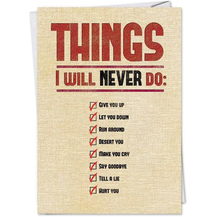 Things I Will Never Do - 8963
