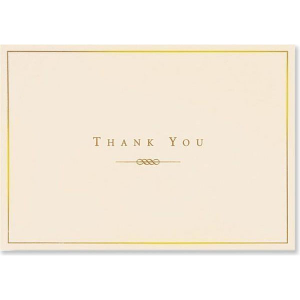 Gold and Cream Thank You Notecards