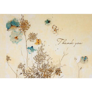 Watercolour Flowers Thank You Notecards