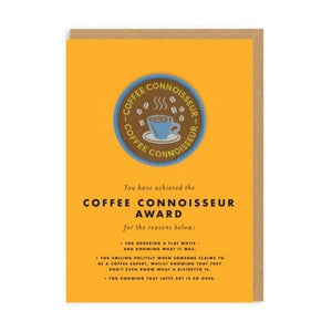 Coffee Connoisseur Award - 3734