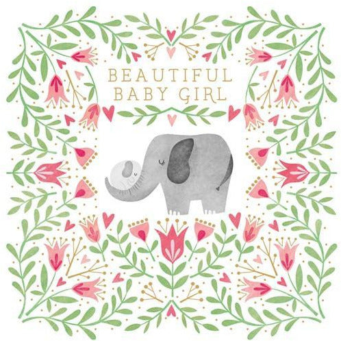 Beautiful Baby Girl Card | The Gifted Type