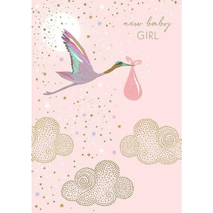 New Baby Girl Card | The Gifted Type
