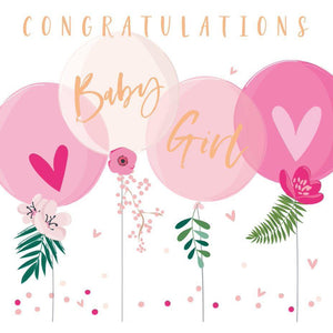 Congrats Baby Girl Card | The Gifted Type