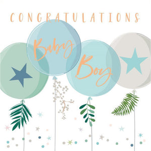 Congrats Baby Boy Card | The Gifted Type
