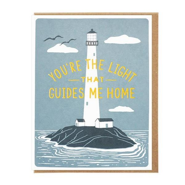 You're The Light Greeting Card