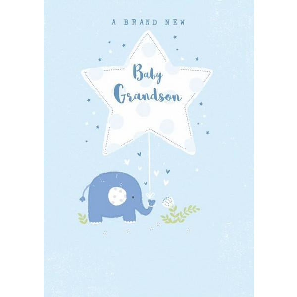 New Baby Grandson Card | The Gifted Type