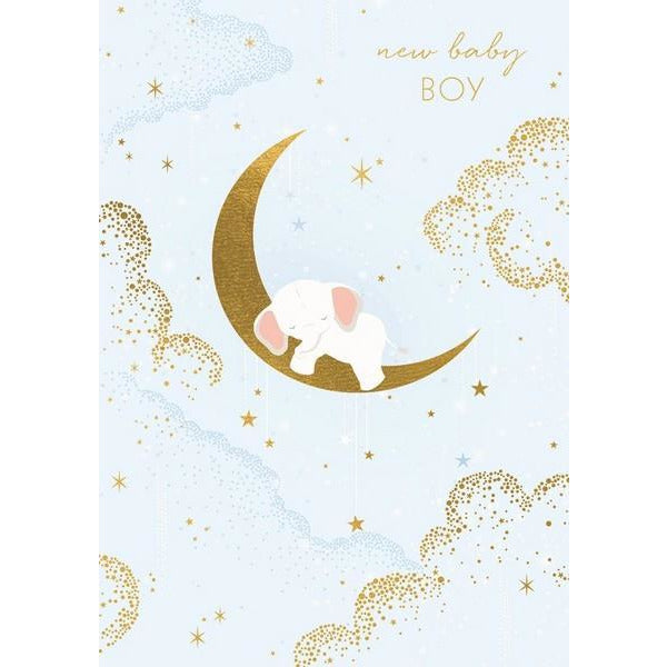 New Baby Boy Card | The Gifted Type