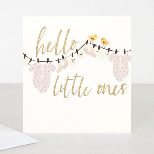 Welcome Little Ones Twins Baby Card  | The Gifted Type