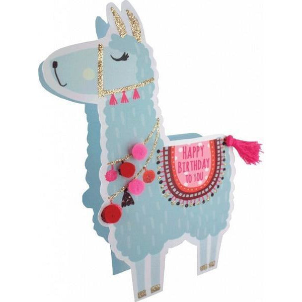 Llama Pop-Up - Greeting Card
