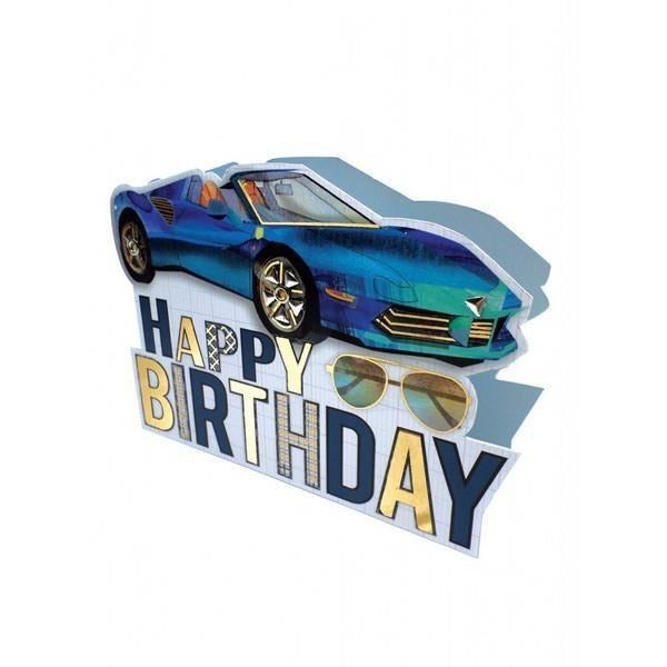 Sportscar Pop-Up - Greeting Card