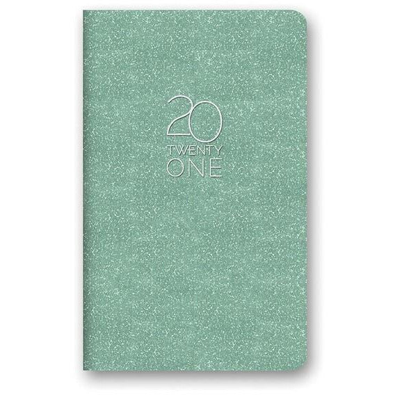 Mint Shimmer Mini Planner - 17 Month