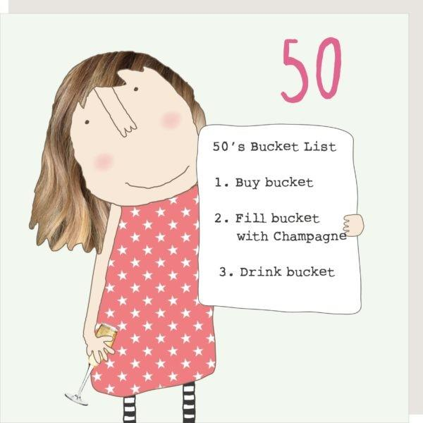 50th Birthday Bucket List - Greeting Card
