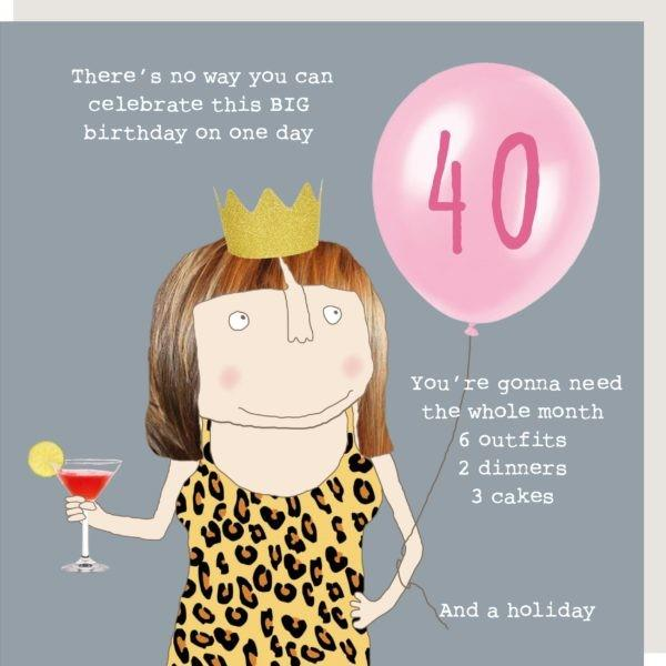 40th Birthday Girl - Greeting Card
