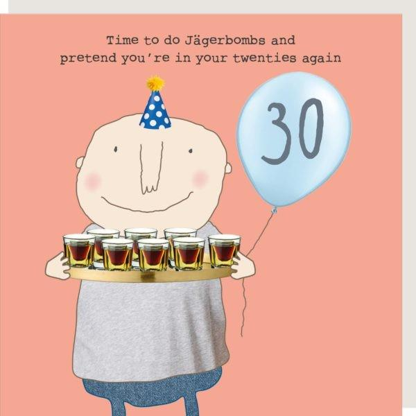 30th Birthday Jagerbombs - Greeting Card