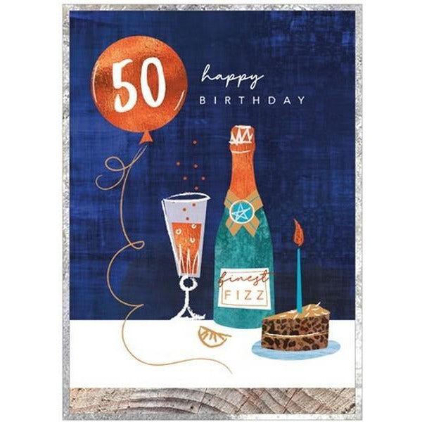 Finest Fizz 50 - Greeting Card