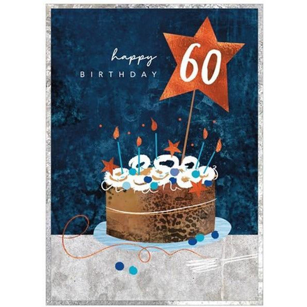 Cake 60 - Greeting Card