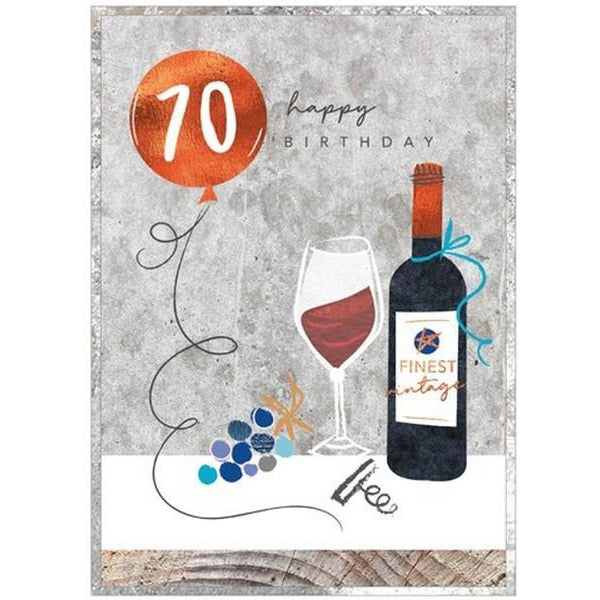 Finest Vintage 70 - Greeting Card