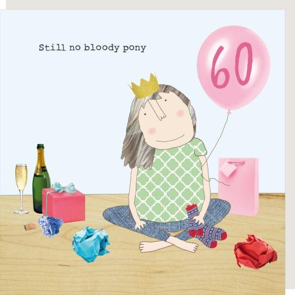 60th Birthday Pony - Greeting Card