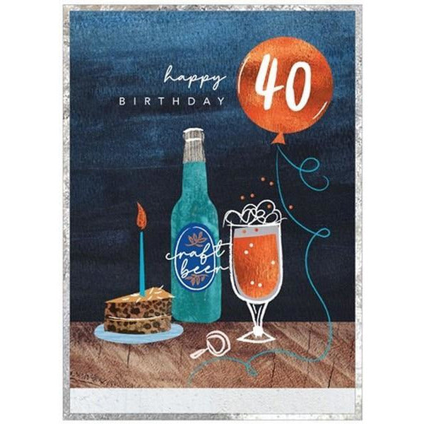 Craft Beer 40 - Greeting Card
