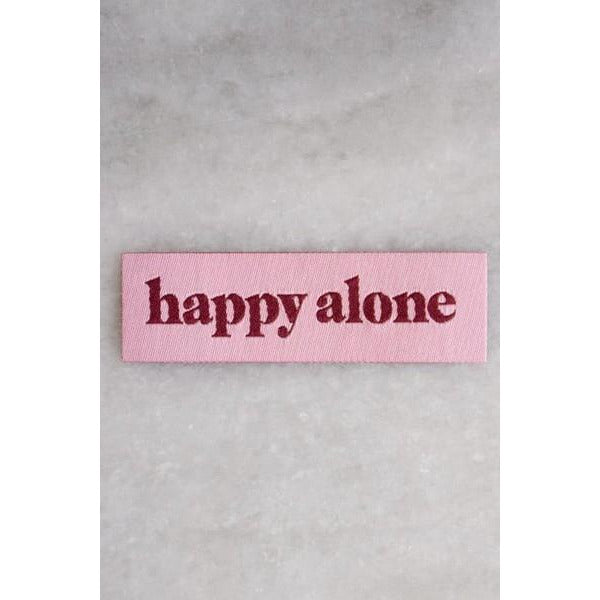 Happy Alone (Tiny) - Woven Patch