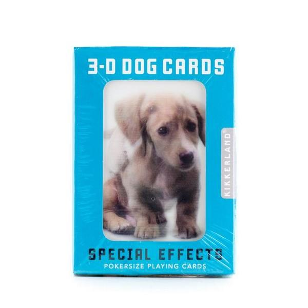 3-D Dog Playing Cards
