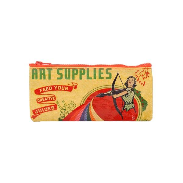 Blue Q Pencil Case Art Supplies | The Gifted Type