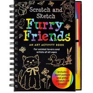 Furry Friends Scratch And Sketch | Activity Book | The Gifted Type