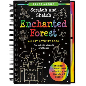 Enchanted Forest Scratch And Sketch | Activity Book | The Gifted Type