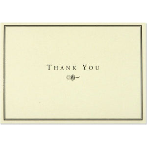 Black and Cream Thank You Notecards