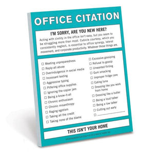 Knock Knock Nifty Notes Office Citation | The Gifted Type