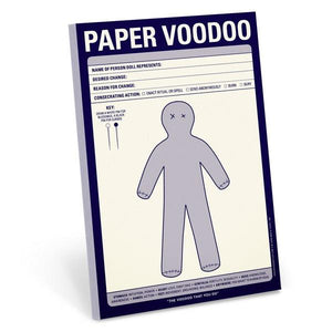 Knock Knock Notepad Paper Voodoo | The Gifted Type