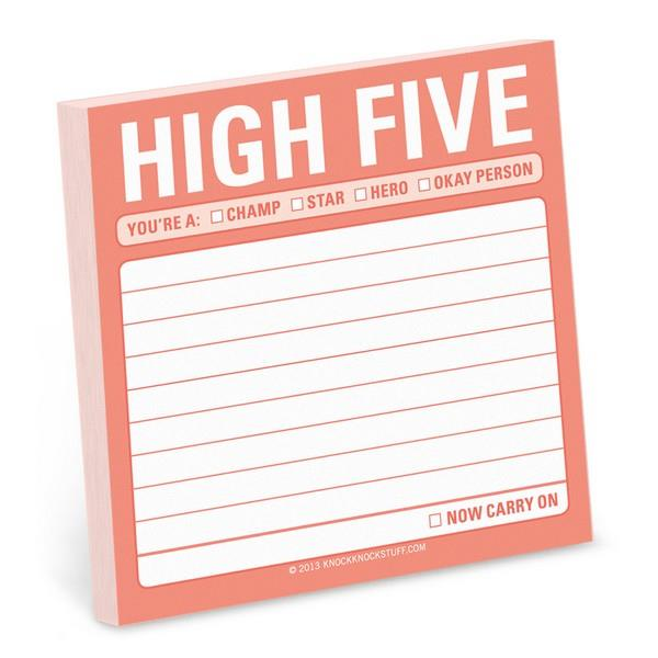 Knock Knock Sticky Notes High Five | The Gifted Type