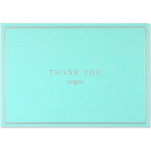 Blue Elegance Thank You Notecards