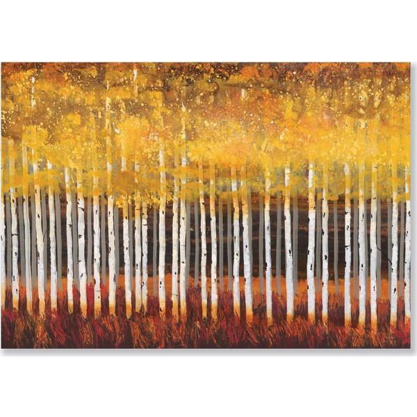 Golden Aspens Peter Pauper Blank Notecards | The Gifted Type
